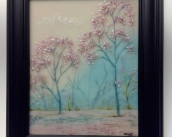 Fused Glass Painting (Cherry Blossoms)