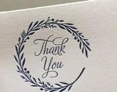 Garland Thank You letterpress card