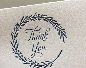 Garland Thank You letterpress card