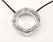 Psychedelic Fieldwork pendant - silver