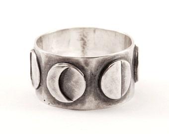 Lunar ring - silver