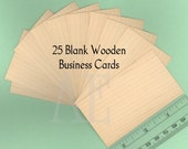 """Set of 25 Blank Maple Business Cards or Tags - Many Uses for a Unique and Beautiful Element - Thin Veneer Cards are 2"""" x 3 1/2"""""""
