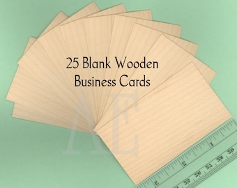 Wood business cards set of 50 blank wood cards wood tags set of 25 blank maple business cards or tags many uses for a unique and beautiful element thin veneer cards are 2 x 3 12 reheart Images