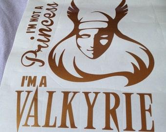 Not a Princess - Valkyrie Vinyl Decal