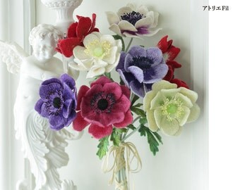 Wire Work Flowers - Japanese Craft Book