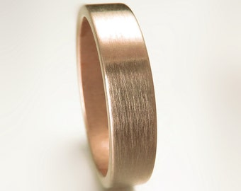 Classic 5MM Rose Gold Low Profile Wedding Band