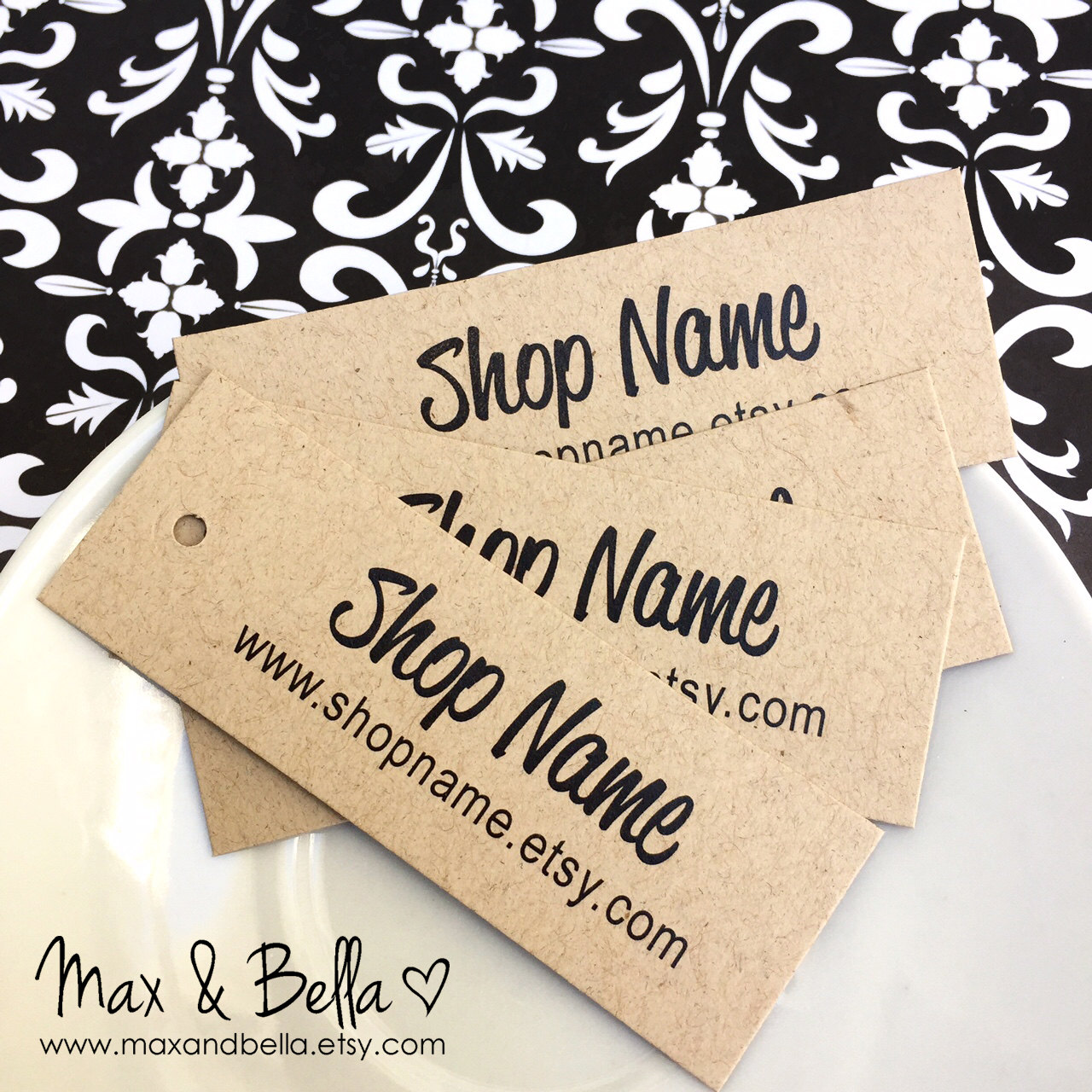 100 Custom Kraft tags, Personalized Tags, Price Tags, Product Tags ...