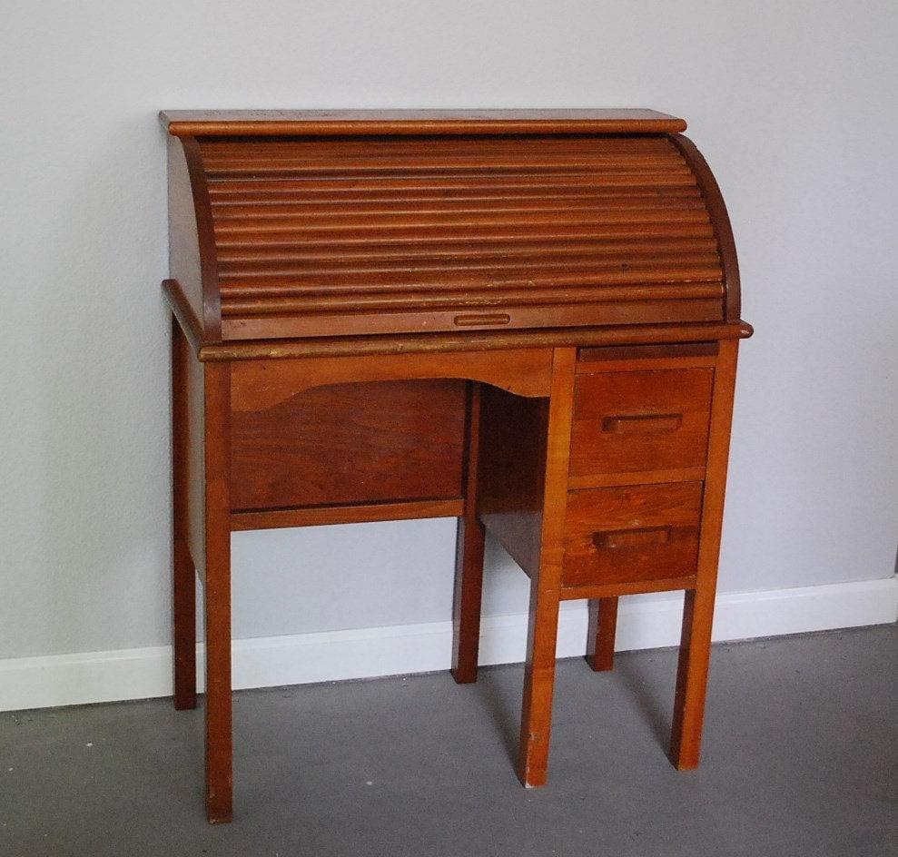 Vintage Roll Top Desk Desk