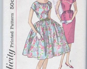"UNCUT Vintage Dress Pattern Bust 36"" Mad Men Full  Pencil Skirt"