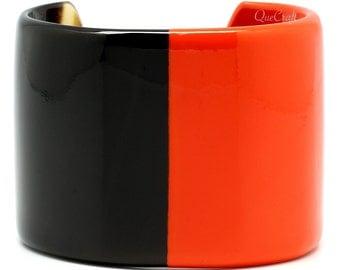 Horn & Lacquer Cuff Bracelet - Q9648-O