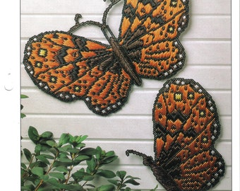 Butterfly Wall Hangings ~  plastic canvas pattern