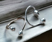 The Girlfriend Rings - reclaimed sterling silver and 14k gold filled adjustable pebble statement rings