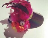 Feather Black Head Visor Festival Head Piece