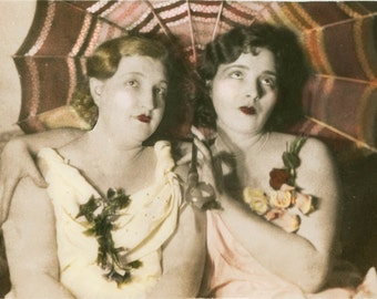 Flapper Women w Parasol Best Friends Fine Art Photography
