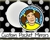 50 Customized Makeup Mirrors 2.25 Inch Round