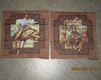 Rodeo Cowboy Unstuffed Pillow Set - CLEARANCE SALE 30% Off *