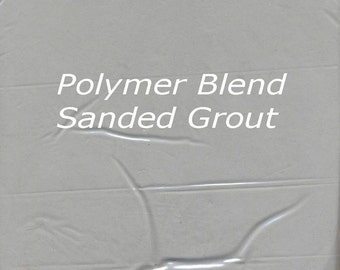 Classic DELOREAN GRAY 5 Pounds Mosaic Tile Grout Sanded Polymer Fortified for Home Projects - Just Add Water