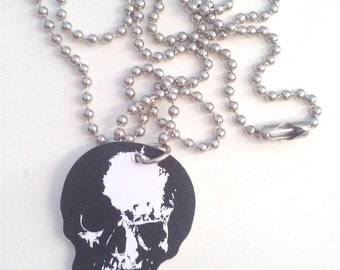 Skull Guitar Pick Necklace