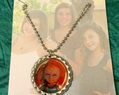Comic Character Bottle Cap Necklace Chuckie Doll Horror Movie