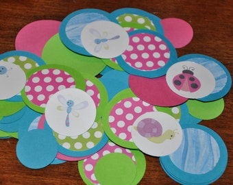 Bug Confetti. Insect Party. Confetti. Insect. Minis. Dots. Table Confetti. 125 pieces.  Choose boy or girl