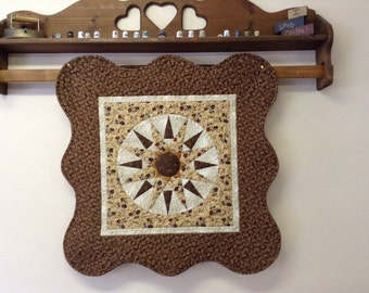 Quilted Compass design art wall or table decor