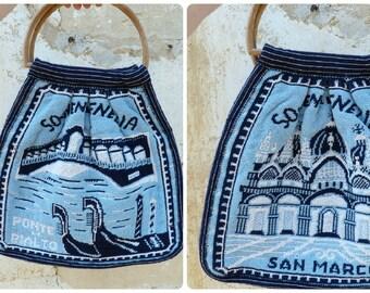 Vintage 1960/1970 Venise San Marco souvenir bag tote