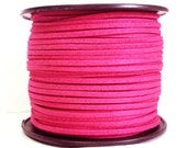 5m faux suede 3mm - Rose Pink