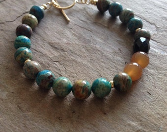 Jasper, Agate mixed beaded Bracelet