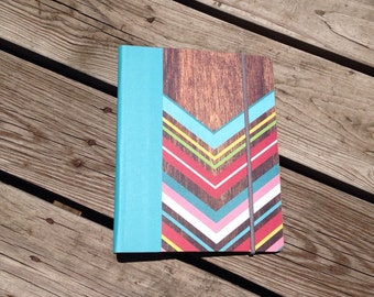 NEW LAYOUT! Wood Chevron Everyday Horizontal Planner - Any Start Month - Ready To Ship!