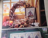 A Time For Everything, Counted Cross Stitch, Leaflet 2987, Leisure Arts, Fall Cross Stitch, Scarecrow Cross Stitch, Harvest Cross Stitch