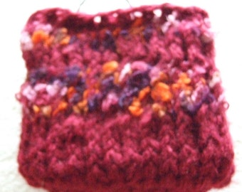 Maroon and mixed shade of reds  Mini  Knit bag