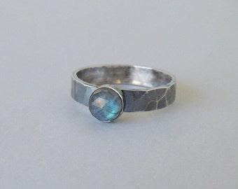 Sterling Ring Labradorite, Silver Gemstone Ring, Gift For Her