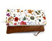 Liberty of London- Foldover Clutch - Floral Eve - Flower Show Collection - Vegan