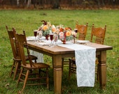 Custom Farm Table with Notched Tapered Legs