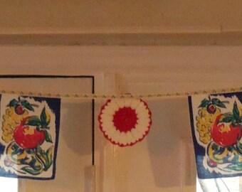 Kitchen Bunting - Handmade Vintage Garland