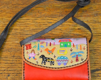 Purse with It Takes a Village Design