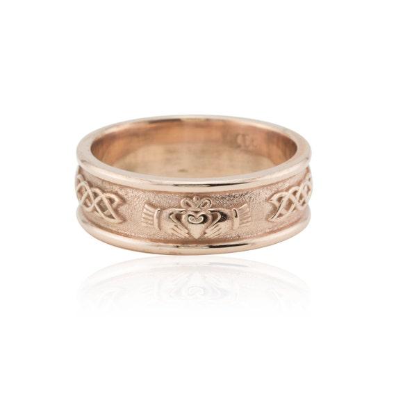 Men 39 S Wedding Band Irish Claddagh Ring With Infinity