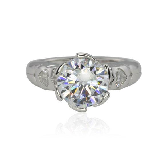 Forever Brilliant Moissanite Engagement Ring Floral Halo
