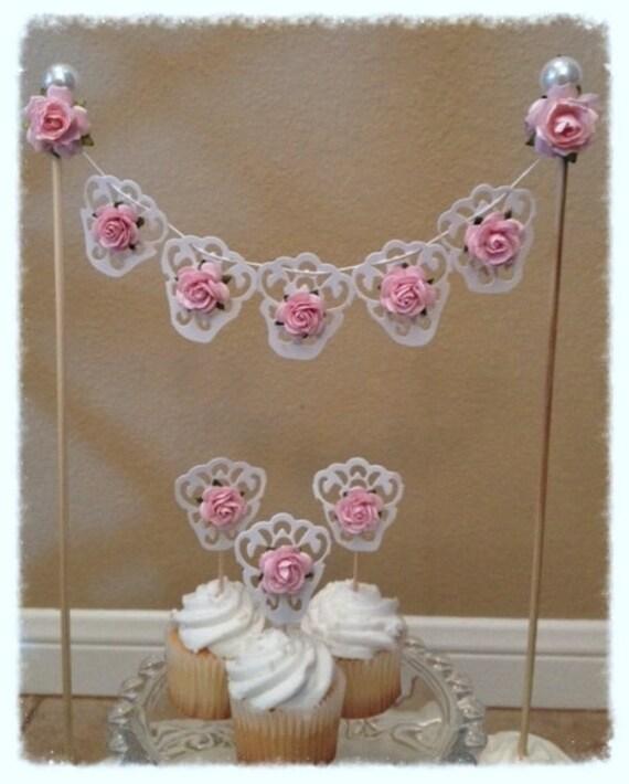 Items Similar To Birthday Decoration Shabby Chic Cake
