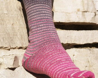 Come What May Gradient Stripes Matching Socks Set, 2-50g Cakes, Greatest of Ease (dyed to order)