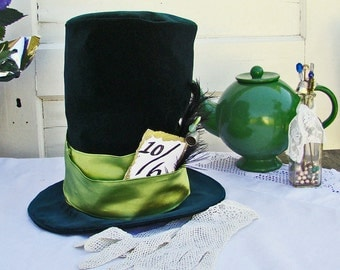 Mad Hatter Hat Full Size  Toddler Boy Costume Tea Party Hat  Alice in Wonderland Party
