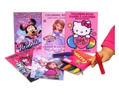 AMERICAN GIRL ACCESSORIES - 5 Coloring Books & Crayons - Crayons Really Work! - Doll Accessory