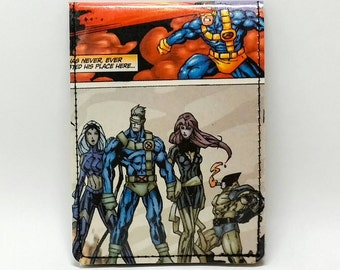 Sewn Comic Book Wallet - X-Men - Cyclops, Storm, Phoenix, Wolverine