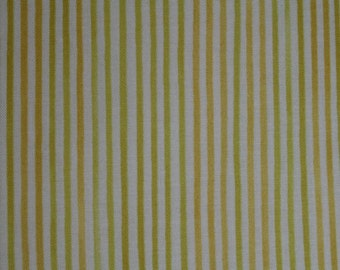 FAT QUARTER ONLY Aunt Lindy's Paper Dolls Yellow Stripes by Blue Hill Cotton Fabric  b7173-9  (fq094) Fat Quarter