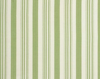 Barefoot Roses Legacy Collection Ticking Stripe in Green by Tanya Whelan for Free Spirit pwtw052-green quilt cotton fabric by the yard BTY