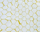 Honeycomb Pattern Screen Printed Fabric