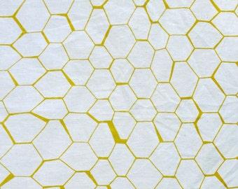 Honeycomb Pattern Screen Printed Fabric