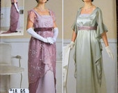 Sewing Pattern Simplicity 1517 Misses' Edwardian Dinner Dress Uncut Complete Size 6-12 Bust 30-34 inches UNCUT