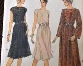 Vintage Sewing Pattern Vogue 8183 Misses' Dress  Complete Size 14 Bust 36 inch