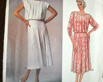 Vintage Sewing Pattern Vogue 1544 American Original Kasper Dress Size 14 Bust 36 inches Uncut Complete
